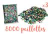 Super pack - Lot de 3 sets de 8000 sequins - Sequins 11003 - 10doigts.fr