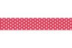 Ruban adhésif fantaisie : Fuschia + pois blancs - Rubans et adhésifs 27916 - 10doigts.fr