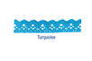 Ruban en dentelle adhésive 1 m - Turquoise - Rubans et ficelles - 10doigts.fr
