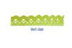 Ruban en dentelle adhésive 1 m - Vert - Rubans et ficelles - 10doigts.fr