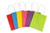 Sacs en papier en kraft multicolores - 6 sacs colorés - Papiers Cadeaux - 10doigts.fr