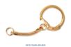 Porte-clés dorés - Lot de 10 - Porte-clefs, Anneaux, Mousquetons - 10doigts.fr