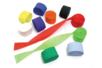 Set de 10 rouleaux de papier crépon 5 cm x 25 m - couleurs assorties - Papiers de crépon - 10doigts.fr