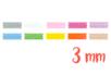 Rubans en satin (largeur 3 mm), 10 couleurs - 3 m - Rubans et ficelles 19248 - 10doigts.fr