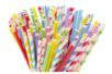 Pailles en carton - Set de 100 - Anniversaires - 10doigts.fr