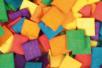 Mosaïques bois couleurs vives - 2 sets (1000 pièces) - Mosaïques bois 08781 - 10doigts.fr
