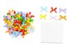 Nœuds ruban multicolores - Set de 100 - Rubans et ficelles - 10doigts.fr
