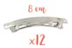 Barrettes à cheveux 8 cm x 0,9 cm - Lot de 12 - Accessoires pour plastique magique 01529 - 10doigts.fr