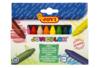 Maxi crayons cire ultra résistants - Pochette de 12 crayons - Crayons cire 35047 - 10doigts.fr