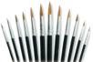 Pinceaux poils de poney (du N°06 au N°20) -Set de 12 - Pinceaux 05960 - 10doigts.fr