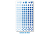 Mosaïques en plastique adhésives -  1 planche Camaïeu bleu - Mosaïques plastique 11549 - 10doigts.fr