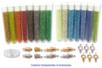 Perles de rocailles transparentes et lumineuses - Set de 15 tubes + CADEAUX - Perles de rocaille 12750 - 10doigts.fr
