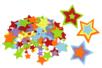 Stickers en feutrine étoiles - 150 formes - Formes en Feutrine Autocollante 34118 - 10doigts.fr
