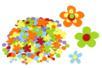 Stickers en feutrine fleurs - 150 formes - Formes en Feutrine Autocollante 34122 - 10doigts.fr