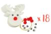 Suspension renne de Noël - Lot de 18 - Suspensions et boules de Noël 34037 - 10doigts.fr