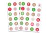 Stickers chiffres calendrier de l'Avent - Set de 48 gommettes - Gommettes Alphabet, messages 38010 - 10doigts.fr