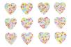 Strass adhésifs en forme de cœur - 24 strass - Strass autocollants - 10doigts.fr