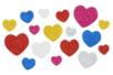 Coeurs adhésifs pailletés - 200 pièces - Décorations Coeurs - 10doigts.fr