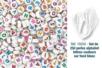 Perles lettres couleurs sur fond blanc - Set de  250 perles - Perles Alphabet 19250 - 10doigts.fr