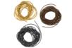 Cordons en cuir - ø 1 mm : noir, brun clair, brun foncé -Set de 3 - Cordons en cuir et suédine 08206 - 10doigts.fr