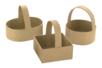 Paniers en papier mâché - 3 formes assorties (carré + rond + ovale)  - Supports de fêtes en carton 12034 - 10doigts.fr