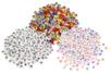 Perles lettres noires sur fond blanc - Set de 300 perles - Perles Alphabet 03788 - 10doigts.fr