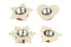 Bougeoirs étoile, fleur, coeur et flocon - Set de 4 - Bougeoirs 13339 - 10doigts.fr