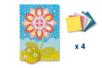 Tableau en mosaïques fleur - Lot de 4 - Kits activités clés en main 19345 - 10doigts.fr