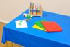 Nappes de protection anti tâches, 4 couleurs assorties - 150 x 150 cm - Nettoyage et Protection 31051 - 10doigts.fr