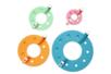 Set de 4 outils pour fabriquer des pompons - Laine - 10doigts.fr