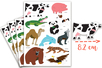 Gommettes animaux 4 - 4 planches (44 maxi gommettes) - Gommettes Animaux 18079 - 10doigts.fr