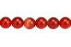 Perles rondes Ø 8 mm - Agate rouge - 48 perles - Perles Lithothérapie 31052 - 10doigts.fr