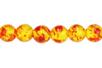 Perles rondes Ø 8 mm - Ambre - 48 perles - Perles Lithothérapie 31053 - 10doigts.fr