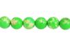 Perles rondes Ø 8 mm - Jaspe Impérial vert - 48 perles - Perles Lithothérapie 31055 - 10doigts.fr
