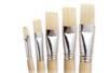 Pinceaux brosses plates assorties N° 6, 10, 14, 16, 18 - Set de 5 - Brosses 02386 - 10doigts.fr