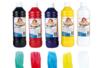 Peinture pour vitres : jaune, rouge, bleu, vert, blanc - Set de 5 couleurs - Peinture Verre et Faïence 06721 - 10doigts.fr