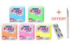 Fimo Néon + 1 cutter gratuit - 5 couleurs assorties ( jaune, orange, rose, bleu, vert) - Fimo Effect 40141 - 10doigts.fr
