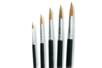 Pinceaux poils de poney assortis N° 6, 10, 14, 16, 20 - Set de 5 - Pinceaux 02379 - 10doigts.fr