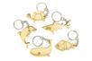 Porte-clés en bois - 5 animaux marins - Porte-clefs en bois 34130 - 10doigts.fr