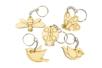 Porte-clés en bois - 5 animaux Printemps - Porte-clefs en bois 34132 - 10doigts.fr