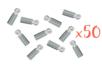 Embouts tubulaires argentés - Lot de 50 - Cache-noeud 03301 - 10doigts.fr