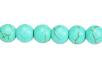 Perles rondes Ø 8 mm - Turquoise - 48 perles - Perles Lithothérapie 31056 - 10doigts.fr