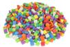 Set de 500 mosaïques en mousseépaisse carrées colorées  - Décorations à coller - 10doigts.fr