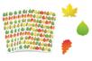 Gommettes feuilles d'arbres - 6 planches (510 gommettes) - Gommettes Saisons - 10doigts.fr