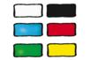 Peinture repositionnable - 6 couleurs classiques + CADEAU d'un contour noir - Peinture Verre et Faïence 10990 - 10doigts.fr