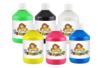 Peinture acrylique 500 ml - 6 couleurs basiques - Acryliques scolaire 12206 - 10doigts.fr
