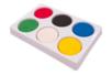 Gouaches Galets et sa palette plastique résistante - 6 pastilles Ø 5,5 cm - Peinture gouache solide 40560 - 10doigts.fr
