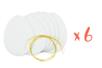 œufs en carton épais blanc 12 x 9 cm - Lot de 6 - Kits activités Pâques 34020 - 10doigts.fr