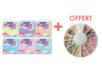 Fimo : kit de 6 pains de Fimo pastel + cadeau Canes Bonbons  269003 - Fimo Effect 40143 - 10doigts.fr