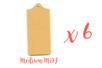 Set de 6 planchettes en bois médium (MDF) - Cuisine et vaisselle 01830 - 10doigts.fr
